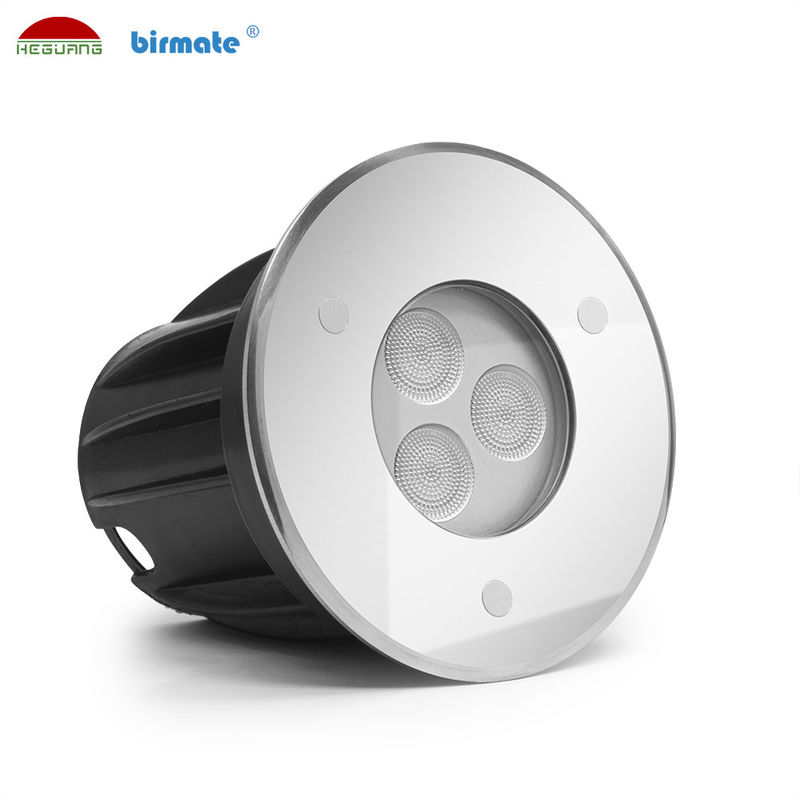 High Efficiency Underwater Ground LED Light , Inground Pool Lights 3W DC 24V
