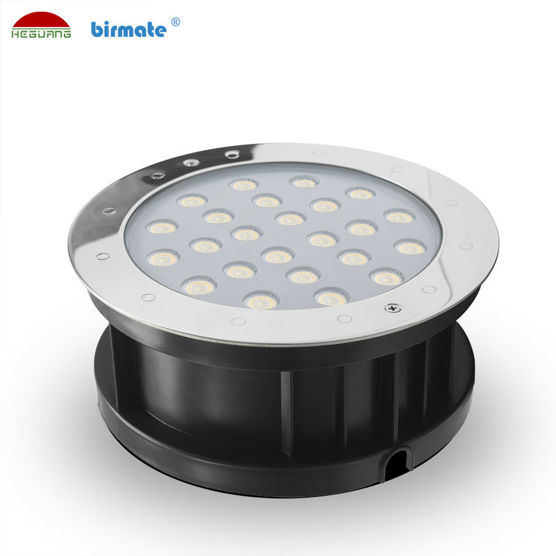 18W Ourdoor RGB External Control Led Ground Lights , Waterproof IP68 Low Voltage DC 24V Ground Light