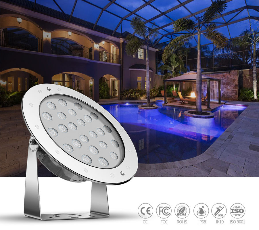 External Control DC24V 36W Underwater Led Pool Lights 1200LM